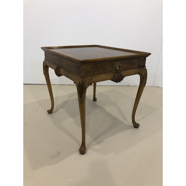 Mid 20th Century Vintage Baker Furniture Mahogany Side Table For Sale - Image 5 of 10