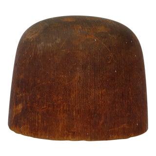 Antique Wood Hat Form For Sale