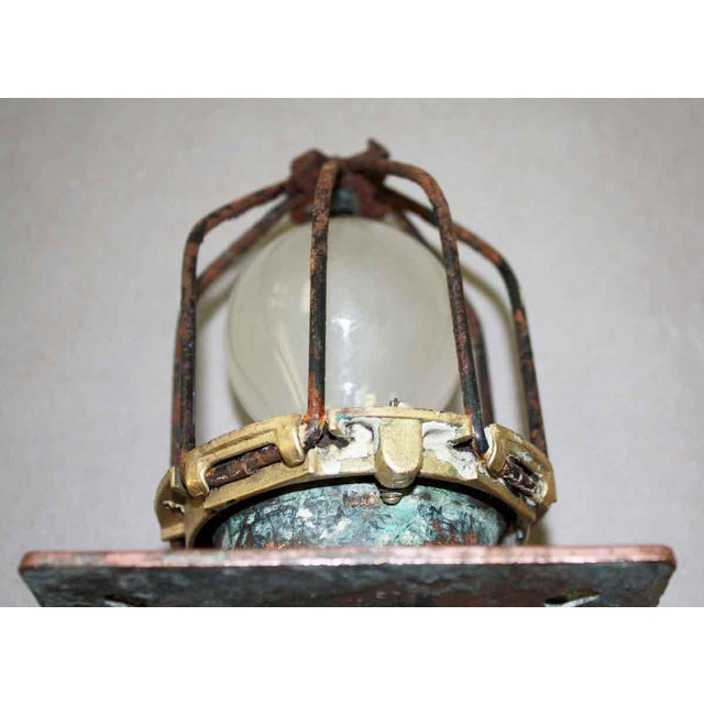 Industrial New York City Subway Flush Mount Light For Sale - Image 3 of 4