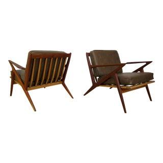 Mid-Century Poul Jensen Teak & Maple Z Chairs - a Pair