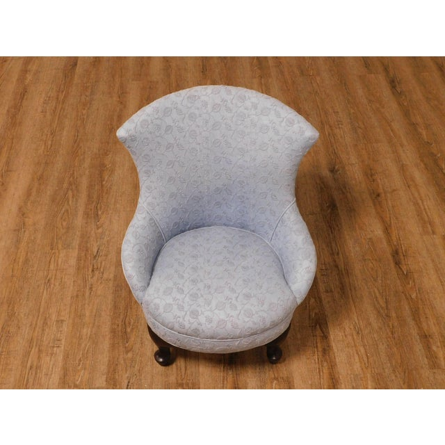 Wood Antique Victorian Childs Slipper Chair For Sale - Image 7 of 13