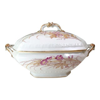 Large Antique French Soup Tureen, Depose Limoges For Sale