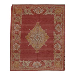 Turkish Oushak Design Hand Woven Wool Rug - 8' X 10' For Sale