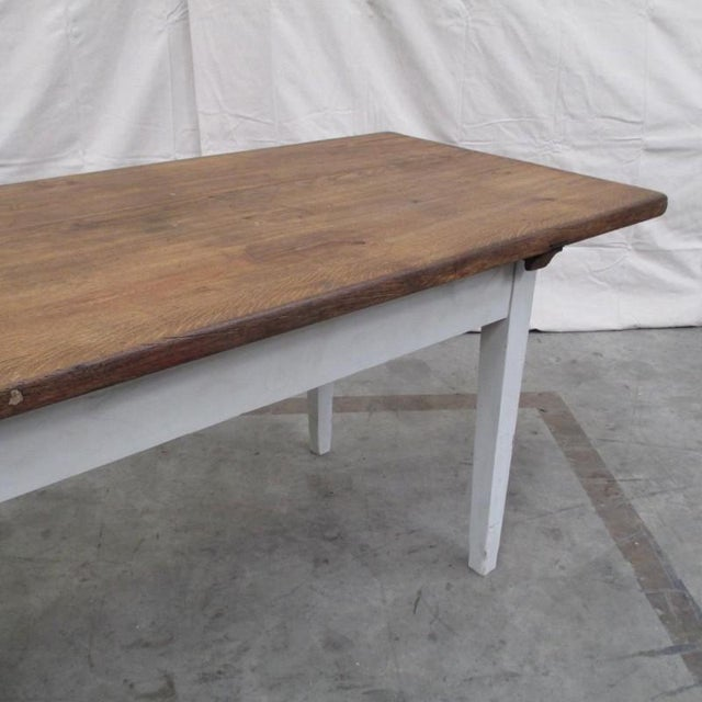 Antique Danish Rustic Painted Dining Table For Sale In Austin - Image 6 of 9