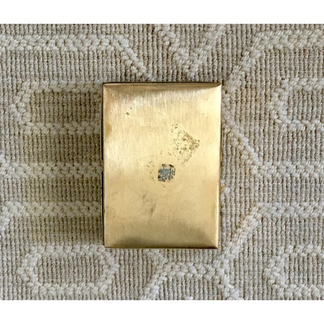 Mid 20th Century Vintage Brass Playing Card Case For Sale - Image 5 of 7