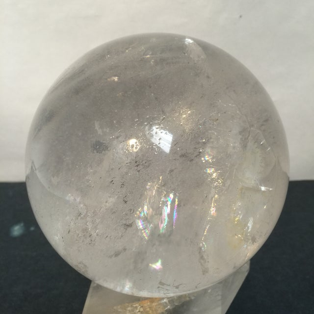 Large Quartz Crystal Ball - Image 6 of 9