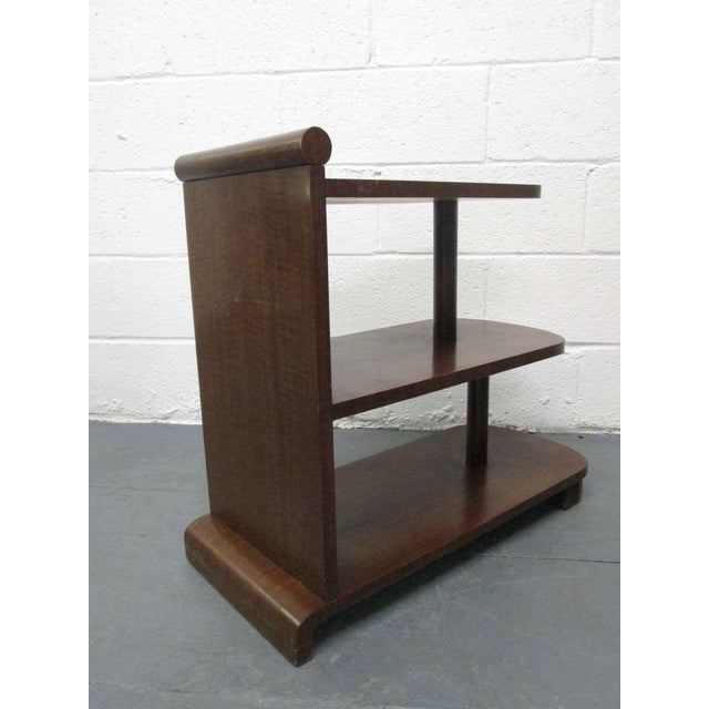 Pair of Art Deco Streamline Three Tier End Tables For Sale - Image 4 of 9