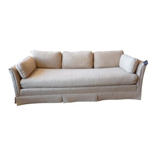 Vintage 1970's Nubby Cream Color Sofa