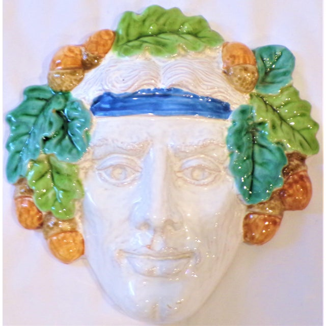 Vintage Italian Terra Cotta Face Mask For Sale - Image 9 of 9