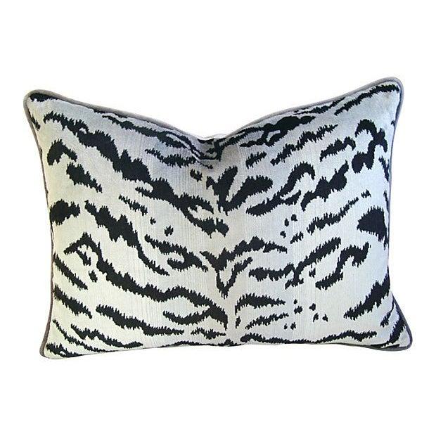 Silver & Black Scalamandre Le Tigre Pillow - Image 1 of 3