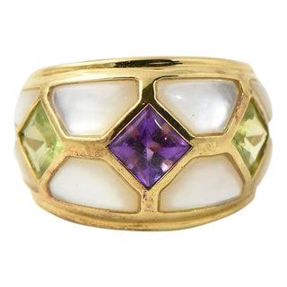 Kai Yin Lo Vermeil Gemstone Ring For Sale