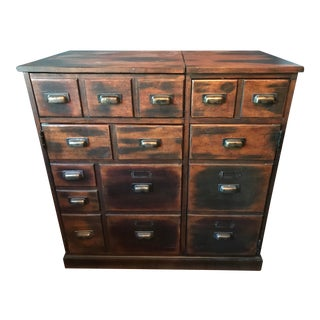 Pottery Barn Apothecary Bar Cabinet For Sale