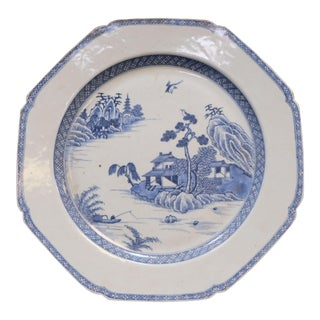 Antique 18th Century Large Chinese Blue & White Charger