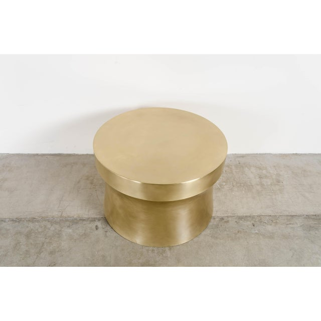 Contemporary Dong Shan Table - Brass by Robert Kuo, Hand Repousse, Limited Edition For Sale - Image 3 of 6