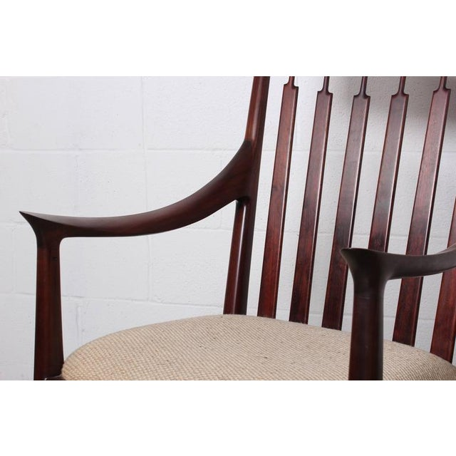 Walnut Craft Armchair by John Nyquist - Image 7 of 10