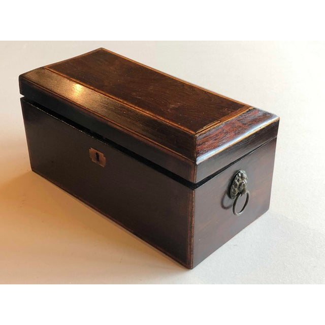 Traditional Mahogany Box With Lion Head Handles For Sale - Image 3 of 11