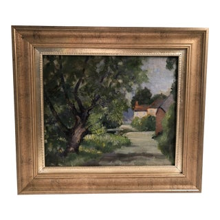 Late 20th Century French Landscape Oil Painting For Sale