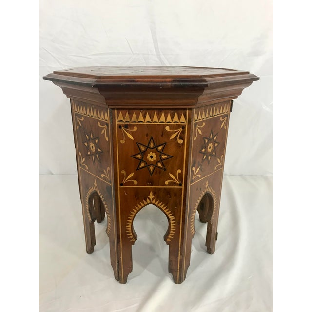 Syrian Octagonal Folding Traveling Table For Sale - Image 4 of 9
