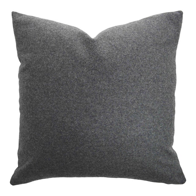 FirmaMenta Italian Gray Sustainable Wool Pillow For Sale