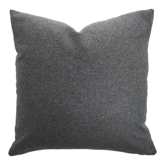 Italian Gray Sustainable Wool Pillow - Image 1 of 6