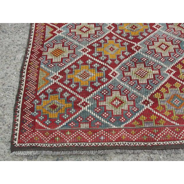 Vintage Turkish Kilim Rug - 5′8″ × 10′4″ For Sale - Image 4 of 11