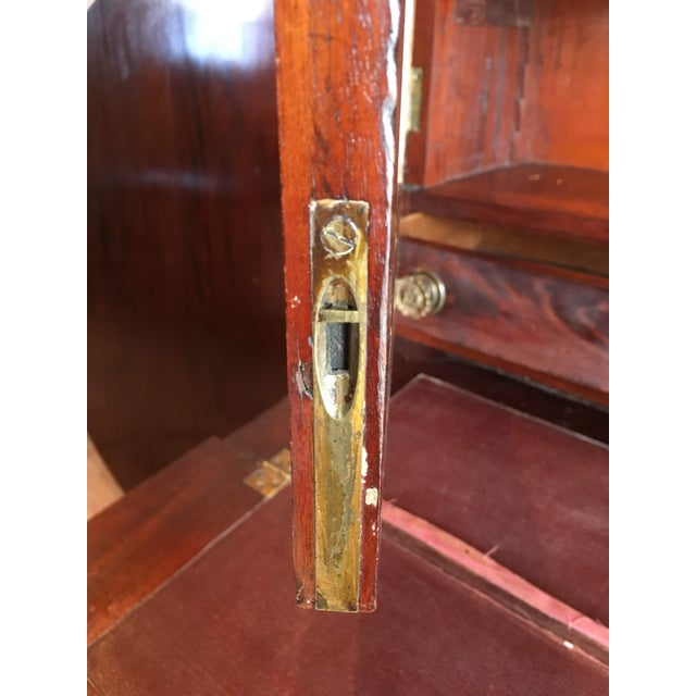 American Empire Secretary With Glass Door For Sale - Image 9 of 11