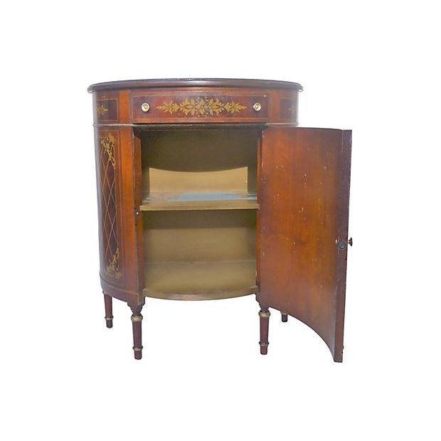 1940's Mahogany Demilune Console Cabinet - Image 5 of 5