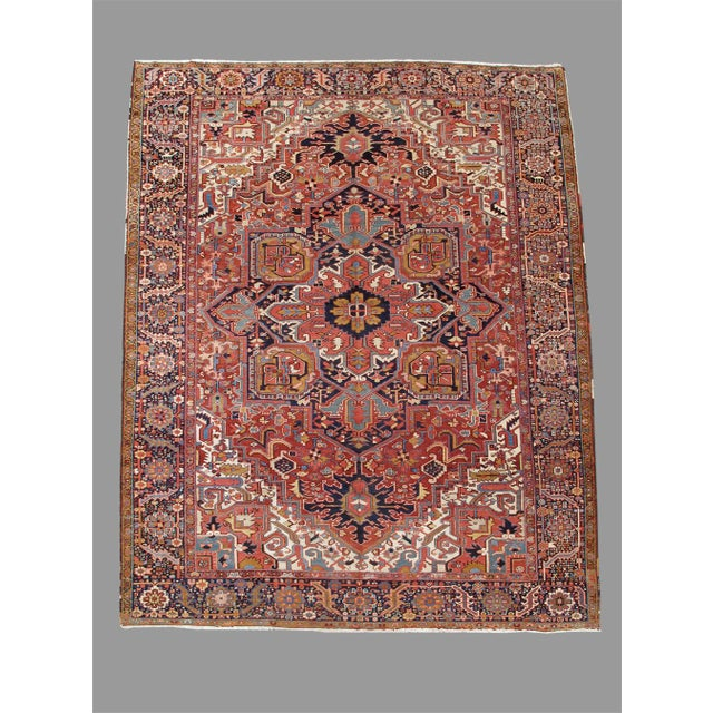 Islamic Heriz Persian Rug - 10′ × 14′ For Sale - Image 3 of 3