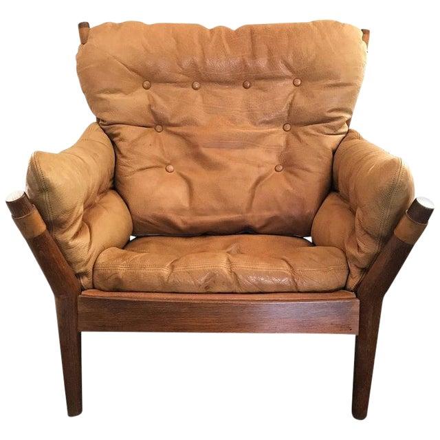 1960s John Mortensen for Magnus Olesen Model 4521 Lounge Chair For Sale
