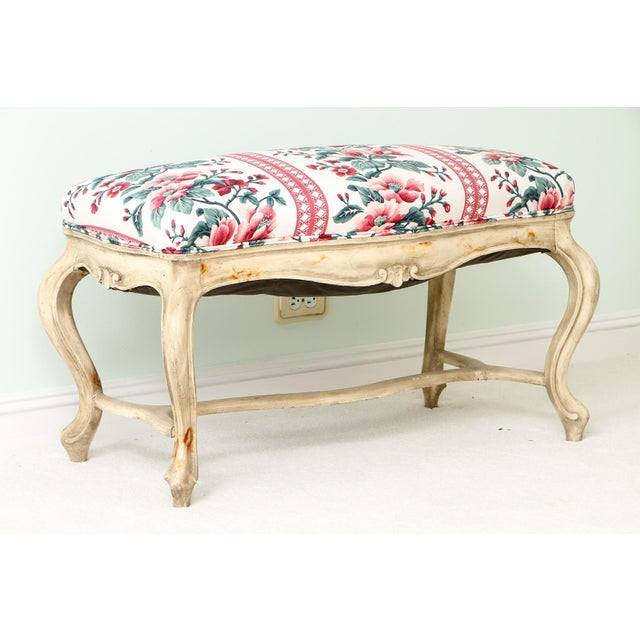 Mid 19th Century Mid 19th Century Antique French Louis XV Style Bench For Sale - Image 5 of 5
