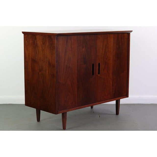 Wood Intense Matching Pair of Arne Vodder Cabinets For Sale - Image 7 of 12