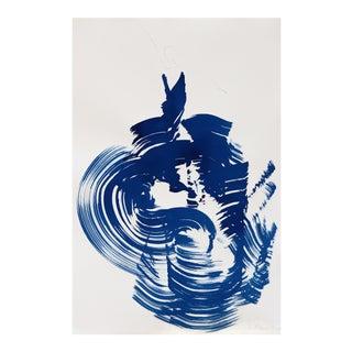 """""""The Blue Cloth 12"""" Original Artwork by Bettina Mauel For Sale"""
