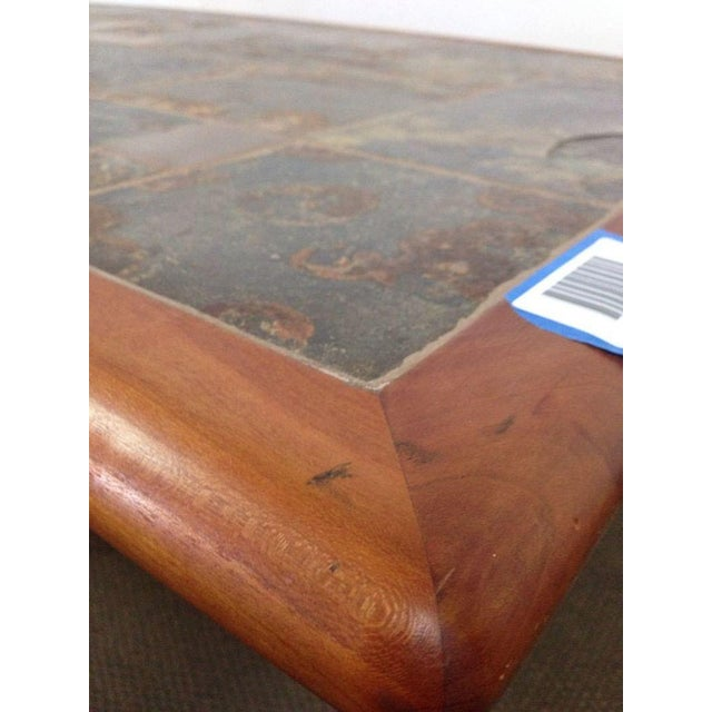 Mid-Century Carved Walnut Coffee Table - Image 5 of 5