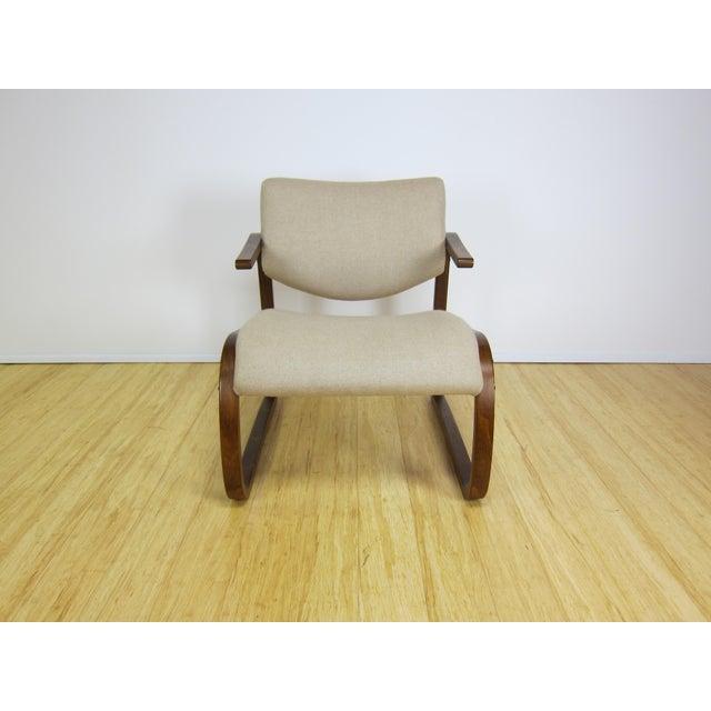 Beech 1970s Danish Modern Oddvin Rykken Cantilever Bentwood Lounge Chair For Sale - Image 7 of 11