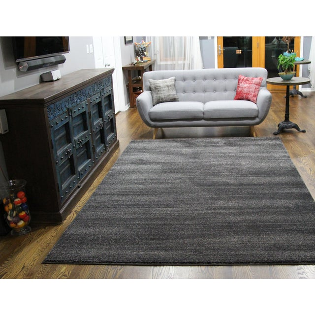Black and Gray Striped Rug - 2′8″ × 5′ - Image 4 of 4