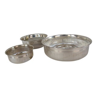 Silverplate Serving Bowls - 3 Pieces For Sale
