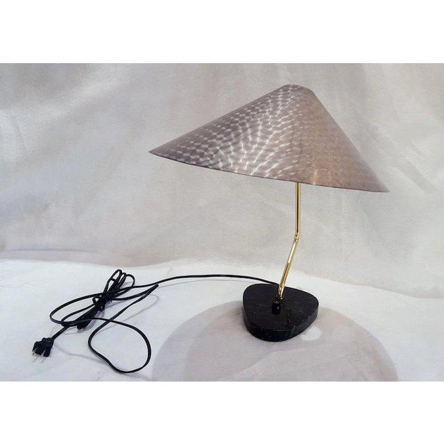 Mid-Century Modern Mid-Century German Ufo Space Age Brushed Aluminum Lamp For Sale - Image 3 of 10