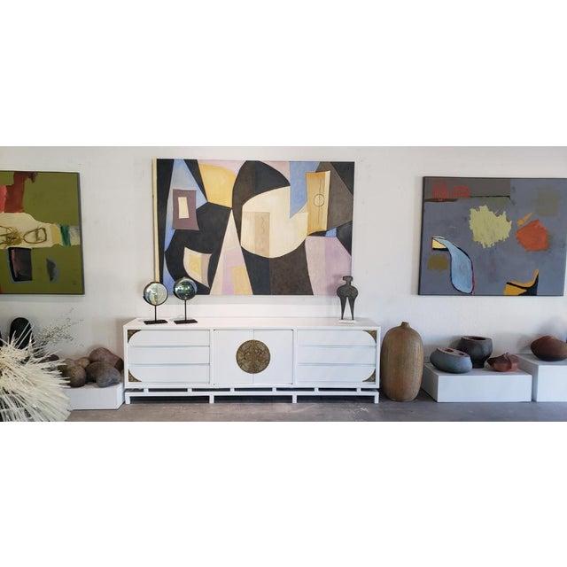 "2020s ""Vase Flowers & Mandolin"" by Artist Robert Diesso For Sale - Image 5 of 5"