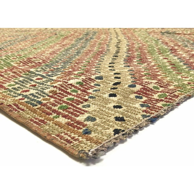 1960s Vintage Turkish Kilim. Hand woven with wool on wool foundation in the Oushak region of Western Turkey. Kilims & Flat...