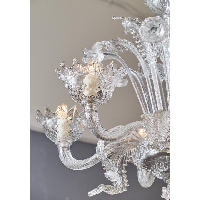 Superb italian vintage murano glass chandelier decaso italian vintage murano glass chandelier image 8 of 11 aloadofball Image collections