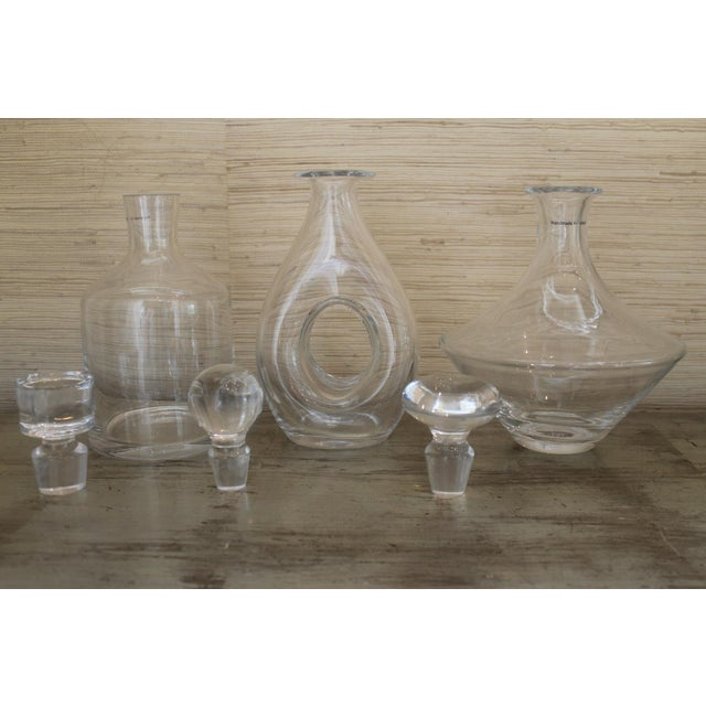 Mid-Century Modern Stella Glass Decanters - Set of 3 For Sale - Image 3 of 10