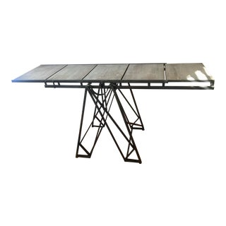 Narrow Industrial Convertible Table Shelf