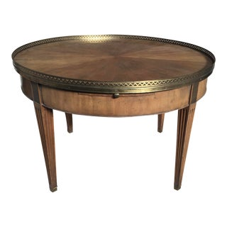 Baker Furniture Coffee Table Round Neoclassical For Sale