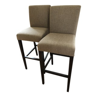 Modern Crate & Barrel Bar Stools- A Pair For Sale