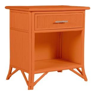 Aruba One-Drawer Nightstand - Orange For Sale