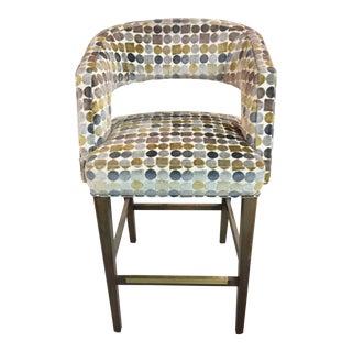 Contemporary Fairfield Blue Barstool For Sale