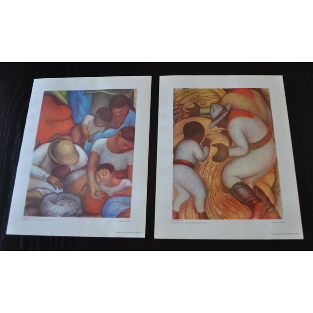 1948 Original Diego Rivera Prints - A Pair - Image 2 of 11