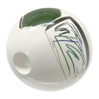 Post Modern Ceramic Decorative Orb Sculpture For Sale