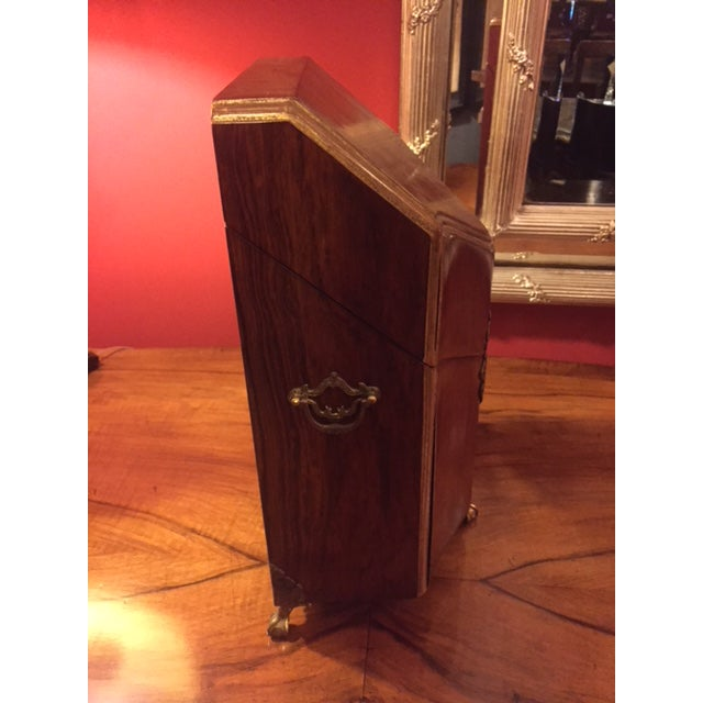 1960s Wood & Brass Letter Box For Sale - Image 5 of 8