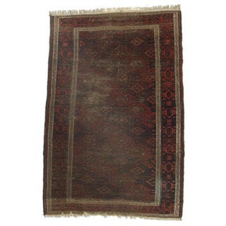 RugsinDallas Hand-Knotted Wool Afghan Rug - 3′2″ × 4′10″ For Sale